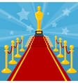 red carpet award vector image