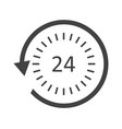 24 hour service icon vector image