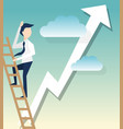 a businessman climbs ladders symbol for startup vector image vector image