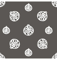 background with Christmas tree balls vector image