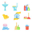 bathroom furniture and tools vector image