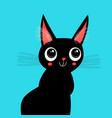 beautiful black kitten vector image vector image