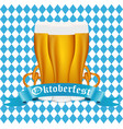 beer with pretzel at the festival oktoberfest vector image vector image