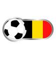 belgium soccer icon vector image