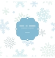 Blue Christmas Snowflakes Textile Texture Frame vector image vector image