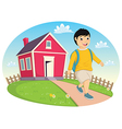 Boy Leaving Home vector image vector image