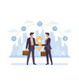 business partnership cooperation colorful flat vector image vector image