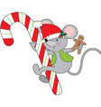 Candy Cane Mouse vector image vector image