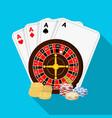 casino single icon in flat stylecasino vector image vector image
