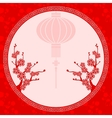 Chinese Lantern Cherry Blossom vector image vector image