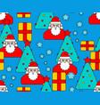 christmas pattern seamless santa and christmas vector image vector image