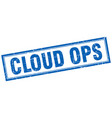 cloud ops square stamp vector image vector image