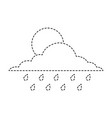 cloud sun and drops rain weather sky vector image vector image