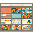 Collection of banners in retro style vector image vector image