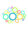 colorful gears vector image