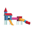 colorful playground vector image