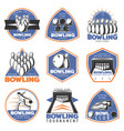 colorful vintage sport recreation emblems set vector image vector image