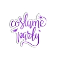 Costume party background vector image