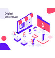 digital download isometric modern flat design vector image vector image