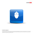 engineer icon - 3d blue button vector image