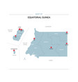 equatorial guinea map with red pin vector image vector image