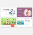 flat fitness websites set vector image vector image