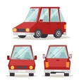 Generic red car luxury design flat vector image vector image