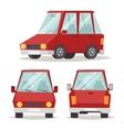 Generic red car luxury design flat vector image vector image