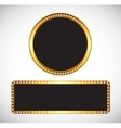 Gold Frame Template vector image