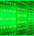 green binary computer code repeating vector image vector image