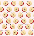 half apple fruit seamless pattern vector image