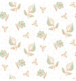 hand drawn flower pattern seamless vector image vector image