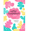 happy children day poster with date template can vector image vector image