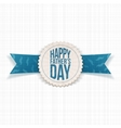 Happy Fathers Day Emblem with greeting Ribbon vector image vector image