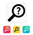 Help and FAQ search icon vector image vector image