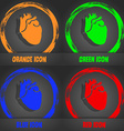 Human heart icon Fashionable modern style In the vector image vector image