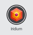 iridium - digital currency web icon vector image