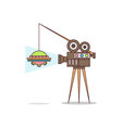 Isolated cartoon creating fake aliens movie vector image vector image