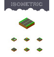 isometric road set of footpassenger down asphalt vector image vector image