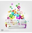 Keyboard icon Application buttonSocial media vector image