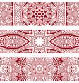 line art pattern textured banner border set vector image