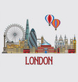 london colorful line art 2 vector image vector image