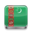 Metal icon of Turkmenistan vector image vector image
