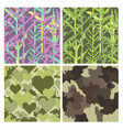 military pixelate seamless pattern set with grass vector image vector image