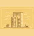 modern building - line design style vector image vector image