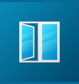 modern window with blue glass icon vector image vector image