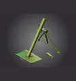 Mortar weapon isometric military vector image