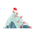 mountain climb path business success concept vector image vector image