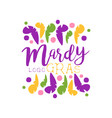 original logo or label design template for mardi vector image vector image