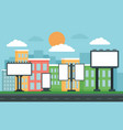 Outdoor advertising concept background flat style
